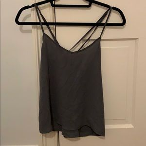 Grey Hollister Blouse with Strap Detail Back